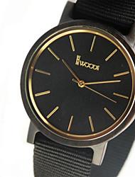 Men's Fashion Watch Quartz / Fabric Band Casual Black Brand