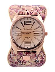 Men's Women's Unisex Fashion Watch Wrist watch Quartz Genuine Leather Band Casual Multi-Colored Brand