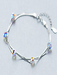 Bracelet Strand Bracelet Sterling Silver Heart Natural Birthday Party Jewelry Gift Silver,1pc