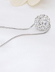 Necklace Non Stone Pendant Necklaces Jewelry Daily Casual Sterling Silver Women 1pc Gift Silver