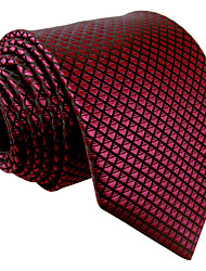 Mens Necktie Tie Burgundy Solid Solid New Business Fashion For Men