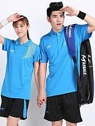 Unisex Short Sleeve Tennis Clothing Sets/Suits Shorts Breathable Comfortable Yellow White Blue Orange Black Badminton