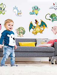 Creative Pocket Monster Family Wall Stickers Fashion Removable Wall Decals Home And Garden