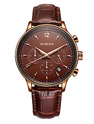 OCHSTIN Original Brand Men's Fashion Multi-function Quartz Watches Male Sport Wristwatch with Date Display Real Function Sub-dials