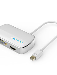 vention® Mini DP 2 em 1 DisplayPort para HDMI conversor adaptador VGA para pro iMac projector mac HDTV ar Apple MacBook