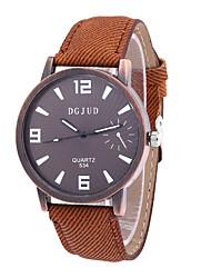 Men's Dress Watch Fashion Watch Quartz PU Band Vintage Black White Brown Brand