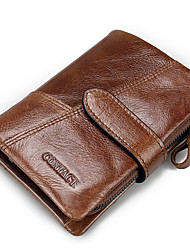 Men Cowhide Casual Office & Career Wallet All Seasons