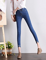 Spot real shot Korean version of the new spring and tight black jeans gray jeans female pencil pants feet pantyhose