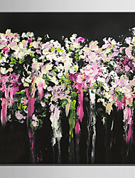 E-HOME Oil painting Modern Pretty Flowers Pure Hand Draw Frameless Decorative Painting