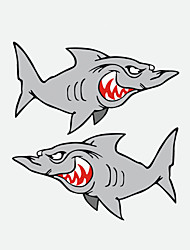 Funny Shark Car Sticker Car Window Wall Decal Car Styling 2PCS