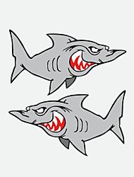 janela de parede carro tubarão engraçado etiqueta do carro 2pcs styling carro decalque