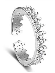 Bague Zircon cubique Argent sterling Zircon Argent Bijoux Mariage Soirée Quotidien Décontracté 1pc
