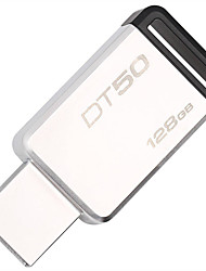 Kingston 128gb usb 3.1 flash drive dados viajante 50, 110mb / s ler, 15mb / s escrever (dt50 / 128gb)