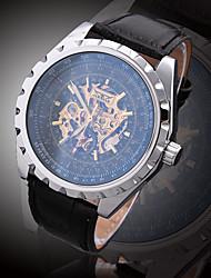 JARAGAR Hollow Automatic Strap Watch