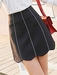Sign 2017 spring new wild Slim was thin skirts embroidered skirt A word skirt