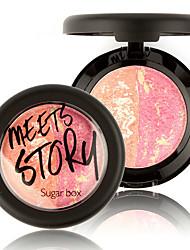 1Pcs Natural Face Pressed Blush Baked Makeup Blush Palette Cream Blush Blusher Brand Sugar Box