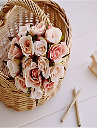1Pc Small Rose Flower Simulation Color Optional Bride Holding Flower Garden Home Furnishing Decoration  A bundle sale