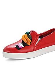 Women's Loafers & Slip-Ons Spring Summer Fall Comfort Light Soles PU Outdoor Office & Career Athletic Dress Casual Flat Heel FlowerBlack