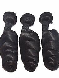 "3pcs/Lot 8""-30"" Unprocessed Raw Remy Brazilian Loose Wave Virgin Hair Human Hair Extensions Natural Black Hair Weaving"