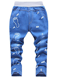 Baby Casual/Daily Solid Pants,Cotton Summer All Seasons Blue