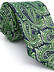 B18 Men Ties Green Multicolor Paisley 100% Silk Business Fashion Wedding New For Men