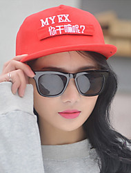 Fashion Spring And Summer New Men And Women Couple Hip-Hop Embroidery Text Flat-Hat Cap Baseball Cap