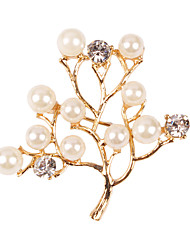 European and American fashion big lovely and generous leaves 0245# Pearl Brooch
