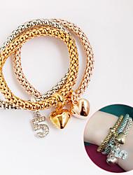 Women's Leather Bracelet Wrap Bracelet Leather Simulated Diamond Bohemia Love Jewelry 1pc