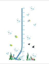 ZOOYOO® Fish Grow Charts Removable Wall Stickers Window Sticker Art Decals Mural DIY Wallpaper for Room Decal