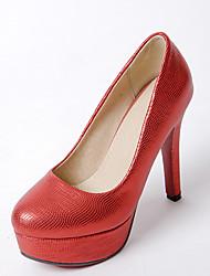 Women's Heels Spring Summer Other Leatherette Wedding Dress Stiletto Heel Black Pink Red Silver