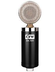 KFW Avec fil Microphone de Karaoké 3,5mm Noir Argenté