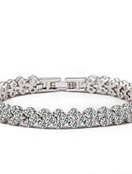 Women's Chain Bracelet Crystal Natural European Rhinestone Imitation Diamond Flower Jewelry For Gift Valentine
