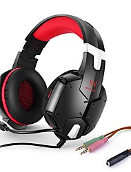 G1200 Stereo Over-ear Gaming Headset Headphones with Microphone For PS4 PC Computer Laptop Mobile PhonesRed)