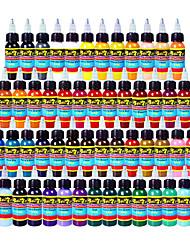 54 × 10 ml Cores variedades Tintas de tatuagem clássico pigmento da tatuagem Jogo de cor cores de maquiagem