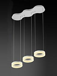 3 Heads Acrylic Modern Style Simplicity LED pendant lights Metal Living Room / Bedroom / Dining Room  Light Fixture