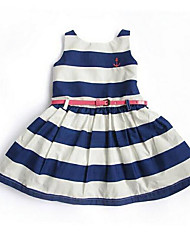 Girl's Casual/Daily Striped Dress,Rayon Summer Sleeveless