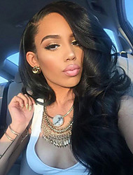 NEW!!!100% Real Unprocessed Human Hair Lace Front Wig with Baby Hair Brazilian Virgin Glueless Body Wave Lace Wig