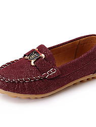 Boy's Loafers & Slip-Ons Spring Summer Fall Moccasin Leather Outdoor Casual Low Heel Brown Light Brown Navy Blue Walking