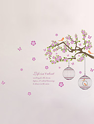 Wall Stickers Wall Decals Style Branch Tree Bird Cage PVC Wall Stickers