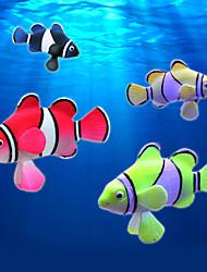 Aquarium Decoration Artificial Fish Noctilucent Resin Black/Yellow/Orange/Red
