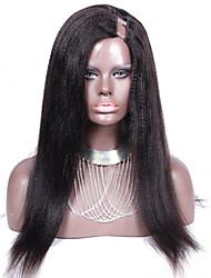 corase yaki em linha reta u parte perucas de cabelo brasileiro 20inch 130% de densidade de cor natural 1 * 4 lado esquerdo parte upart