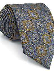 B3 Men's Necktie Tie Multicolor Geometrical 100% Silk Business Fashion For Men