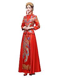 Classic/Traditional Lolita Vintage Inspired Elegant Cosplay Lolita Dress Print 3/4-Length Sleeve Long Length Dress For Terylene