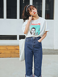LEMON Sign --- 2017 spring new lady small fresh College Girl Students bottoming shirt T-shirt