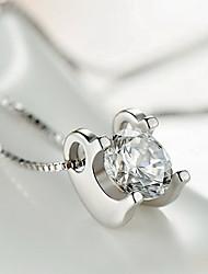 Pendants Sterling Silver Zircon Cubic Zirconia Basic Unique Design Fashion Silver Jewelry Daily Casual 1pc