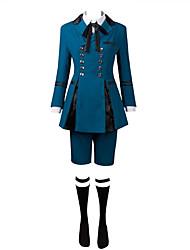 Inspiré par Black Butler Ciel Phantomhive Manga Costumes de Cosplay Costumes Cosplay Couleur Pleine Manches Longues Cache-col Chemise