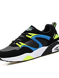 Men's Casual Shoes Elastic Summer and Autumn Comfortable PU Casual Flat Shoes Black / Gray / Red / Sports Shoes