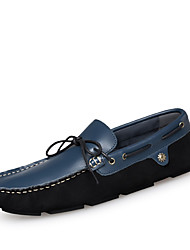 Men's Loafers & Slip-Ons Spring Summer Fall Winter Comfort Leather Casual Flat Heel Black Blue Other