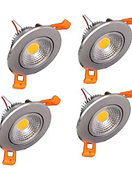 4PCS 3W Cob LED Downlight Celling Lights Warm/Cold White 110V/220V