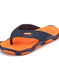 Men's Sandals Spring Summer Fall Comfort Light Soles Rubber Casual Flat Heel Yellow Green Red Gray Walking